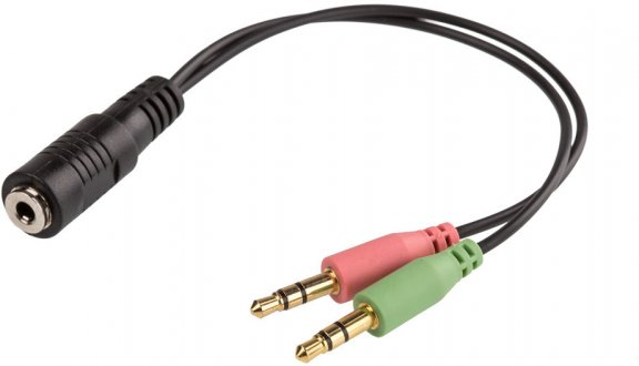 Cablexpert 4pin TRRS CTIA -kuulokemikrofoniadapteri