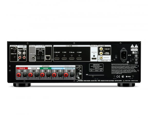 Denon AVR-X1000, 5.1-kanavainen AV-vahvistin, väri musta, kuva 2