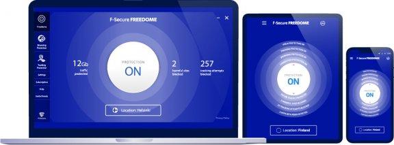 F-Secure FREEDOME VPN - mobiililaitteet - 1 laite / 12 kk -yksityisyyden suoja ohjelmisto, kuva 2