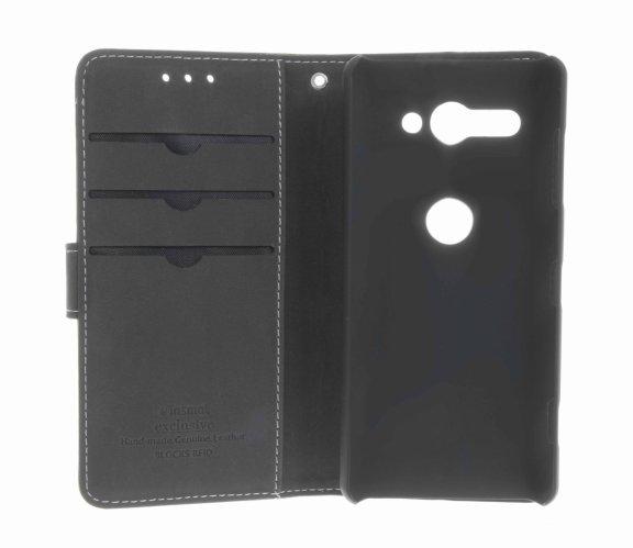 Insmat Exclusive Flip Case -lompakkokotelo, Sony Xperia XZ2 Compact, musta, kuva 3