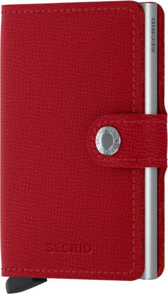 Vaakamallinen lompakko kokopäällinen, kolikkotaskulla, punainen lohi