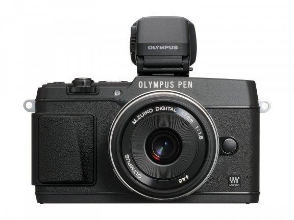 Olympus PEN E-P5 KIT musta + 17mm f/1.8 -objektiivi + VF-4-etsin