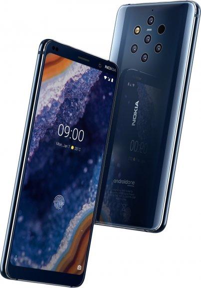 Nokia 9 PureView -Android-puhelin, sininen, kuva 2