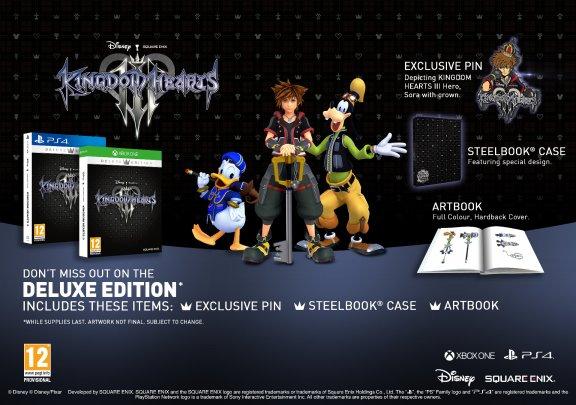 Kingdom Hearts 3 - Deluxe Edition -peli, PS4, kuva 2