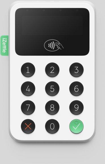 iZettle Reader 2 -maksukortinlukija, valkoinen