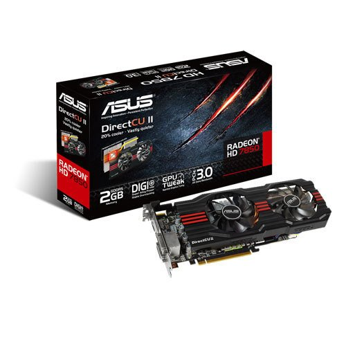 Asus HD7850-DC2-2GD5-V2 Radeon HD7850 2GB GDDR5 -näytönohjain PCI-e-väylään