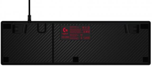 Logitech G413 -pelinäppäimistö, Romer-G -kytkimet, punaiset-ledit, musta, kuva 2
