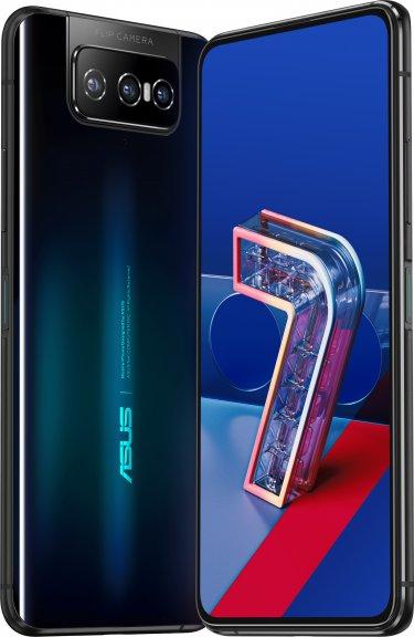 Asus ZenFone 7 -Android-puhelin 128 Gt Dual-SIM, musta