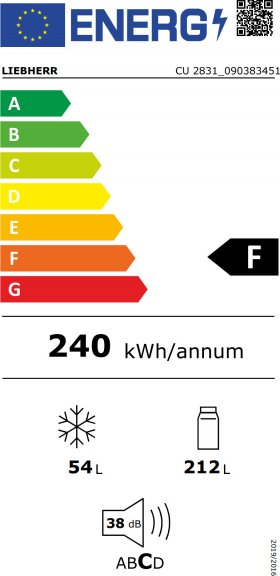 Liebherr CUkw 2831 -jääkaapipakastin, limen vihreä, kuva 5