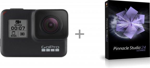 GoPro HERO7 Black + Pinnacle Studio 24 Ultimate -videoeditointiohjelmisto