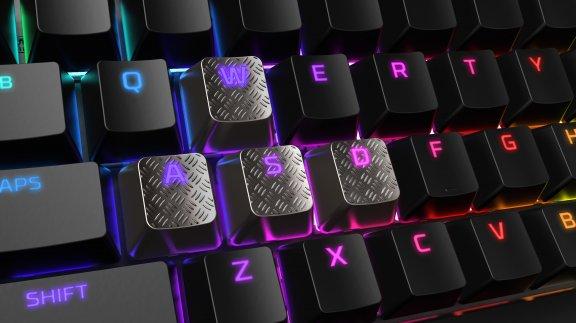 HyperX FPS & MOBA Gaming Keycaps -vaihtonäppäimet, titaanin väriset, kuva 4
