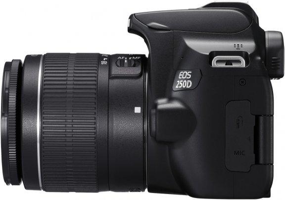 Canon EOS 250D -järjestelmäkamera, musta + 18-55 IS STM, kuva 3