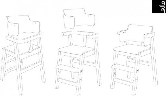Sulo-tuoli, valkoinen/koivu, kuva 18