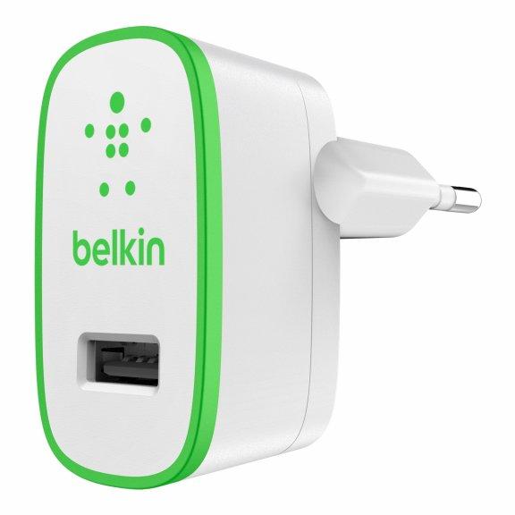 Belkin USB-seinälaturi, 2.4 A, valkoinen