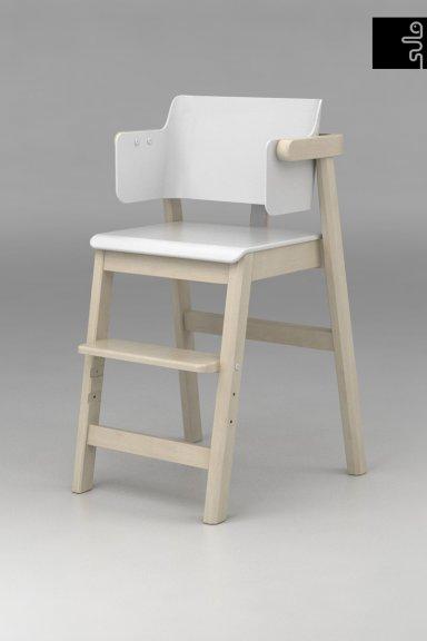 Sulo-tuoli, valkoinen/koivu, kuva 3
