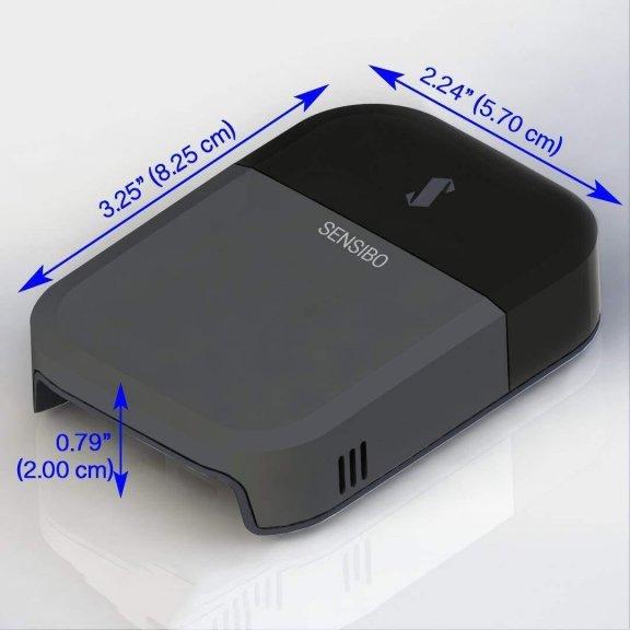 Sensibo Sky -ilmastointilaitteen kauko-ohjain, harmaa/musta, kuva 7