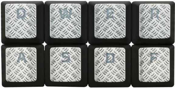 HyperX FPS & MOBA Gaming Keycaps -vaihtonäppäimet, titaanin väriset, kuva 2