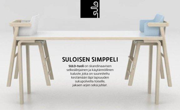 Sulo-tuoli, valkoinen/koivu, kuva 8