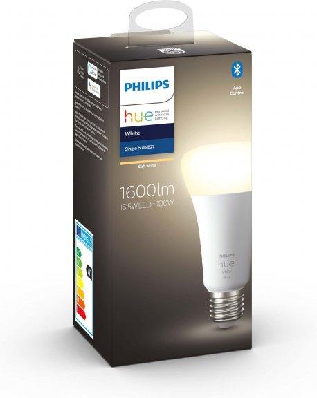 Philips Hue -älylamppu, BT, White, E27, 1600 lm, kuva 22