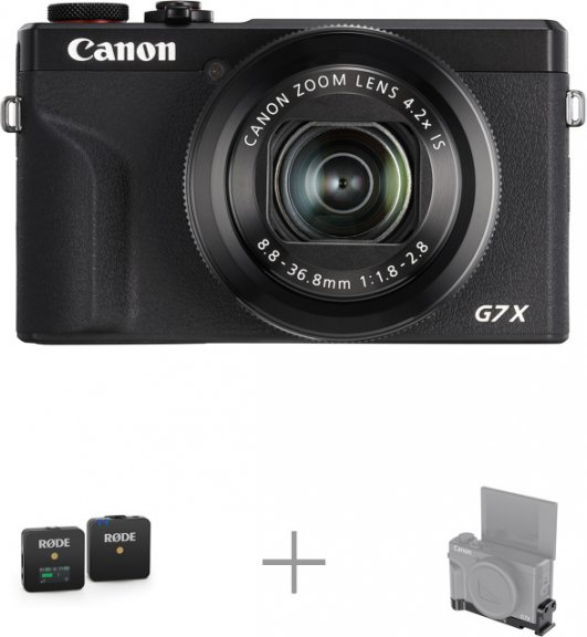 Canon PowerShot G7 X Mark III langaton mikkikitti
