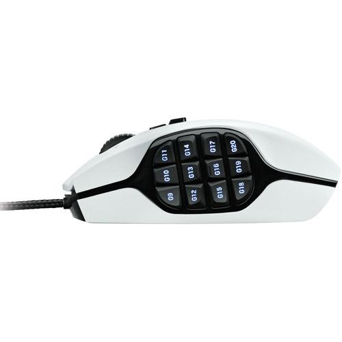 Logitech G600 -hiiri, valkoinen, kuva 3