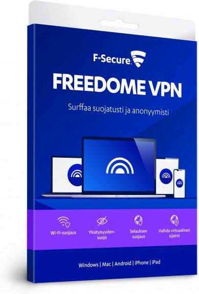 F-Secure FREEDOME VPN - kaikki laitteet - 3 laitetta / 12 kk -yksityisyyden suoja ohjelmisto