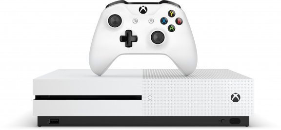 Microsoft Xbox One S 500 Gt -pelikonsoli, valkoinen