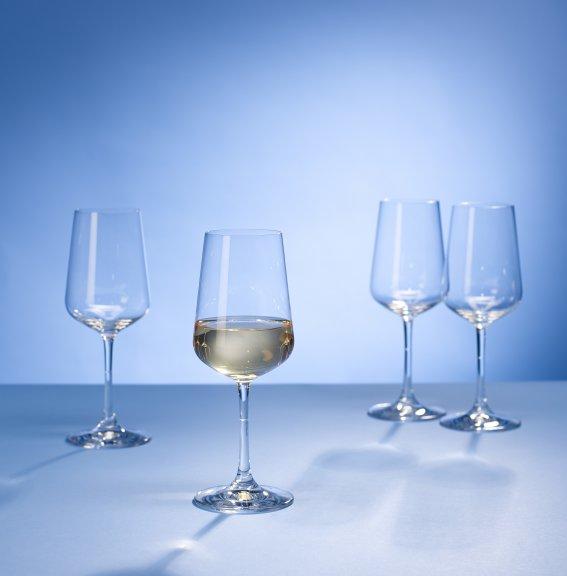 Villeroy & Boch Ovid -valkoviinilasisetti, 3,8 dl, 4 lasia
