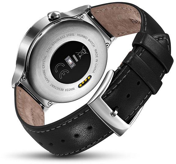 Huawei Watch -älykello, hopea nahkarannekkeella, kuva 5