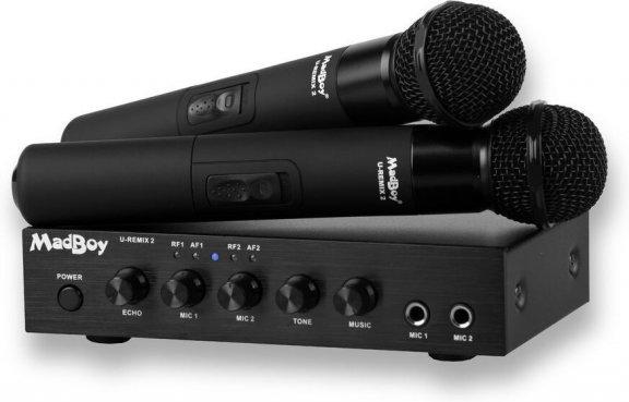 MadBoy U-Remix 2 Bluetooth -langaton karaokemikrofonipari mikserillä