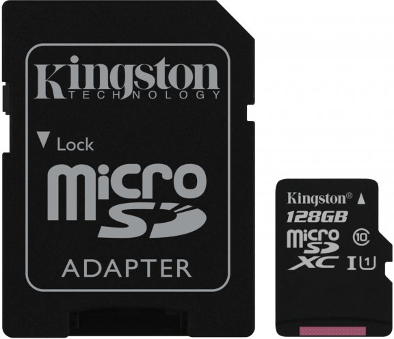 Kingston 128 Gt microSD Canvas Select UHS-I Speed Class 1 (U1) -muistikortti, kuva 3