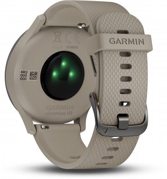 Garmin vivomove HR Sport -hybridiälykello, musta/hiekka, kuva 4