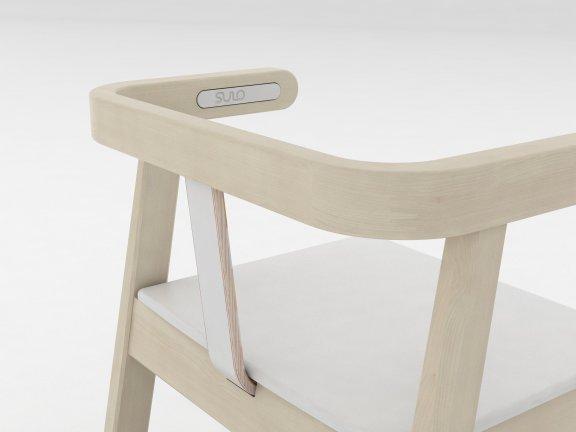 Sulo-tuoli, valkoinen/koivu, kuva 6