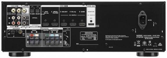 Denon AVR-X540BT -5.2-kanavainen AV-vahvistin, väri musta, kuva 3