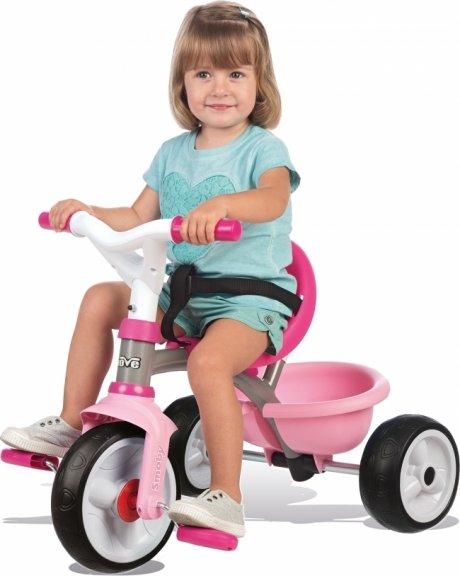 Smoby Be Move -kolmipyörä, pinkki, harmaa runko, kuva 2