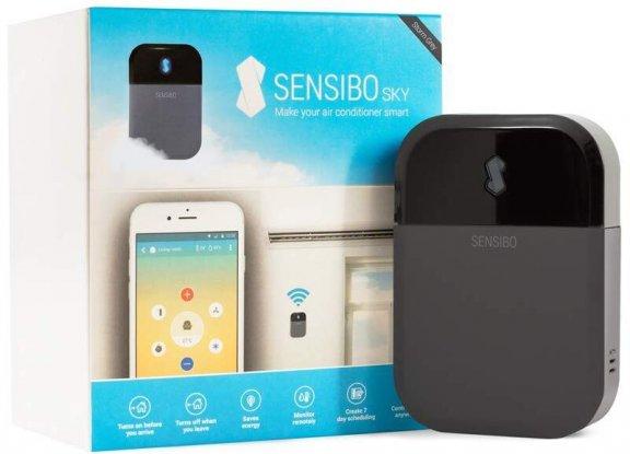 Sensibo Sky -ilmastointilaitteen kauko-ohjain, harmaa/musta