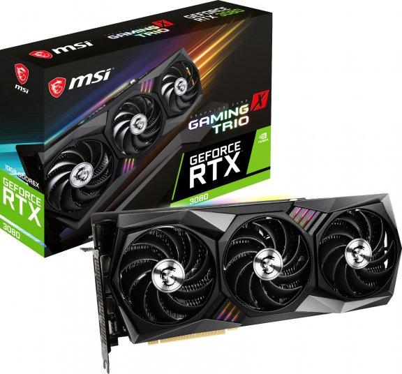 MSI GeForce RTX 3080 GAMING X TRIO 10G -näytönohjain PCI-e-väylään, kuva 2