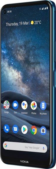 Nokia 8.3 5G -Android-puhelin Dual-SIM, 128 Gt, sininen, kuva 4