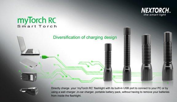 myTorch 2AA RC ohjelmoitava taskulamppu micro-USB -latauksella, 200 lumen, kuva 2