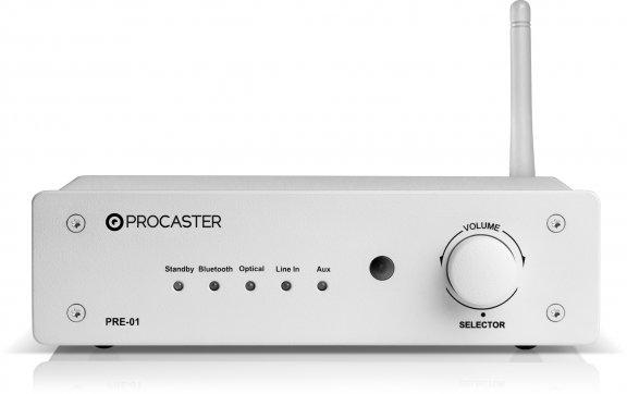 ProCaster PRE-01 -esivahvistin, valkoinen