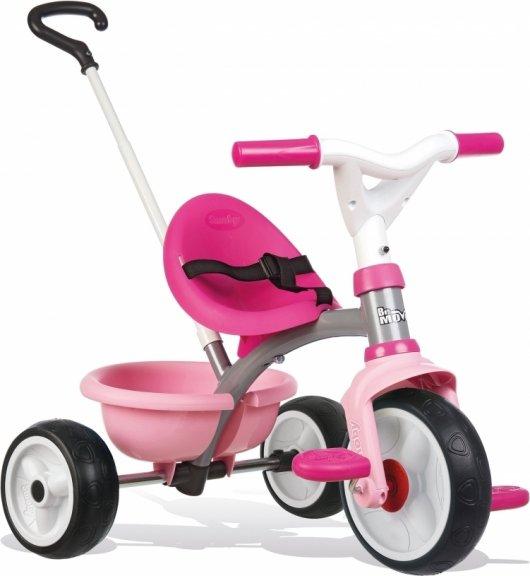 Smoby Be Move -kolmipyörä, pinkki, harmaa runko