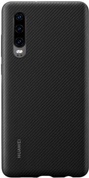 Huawei P30 PU Cover, musta
