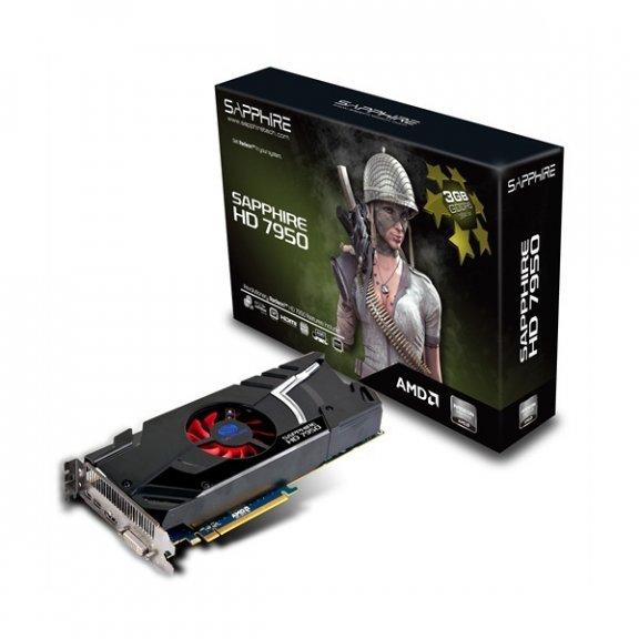 Sapphire Radeon HD7950 3 GB GDDR5 -näytönohjain PCI-e-väylään