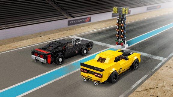 LEGO Speed Champions 75893 - 2018 Dodge Challenger SRT Demon ja 1970 Dodge Charger R/T, kuva 4