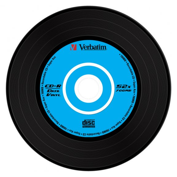 Verbatim Datalife Plus Vinyl 52X 80min/700MB SuperAzo CD-R levy, kuva 2