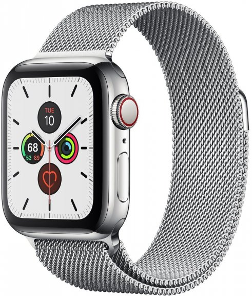 Apple Watch Series 5 (GPS + Cellular) ruostumaton teräskuori 40 mm, milanolaisranneke, MWX52