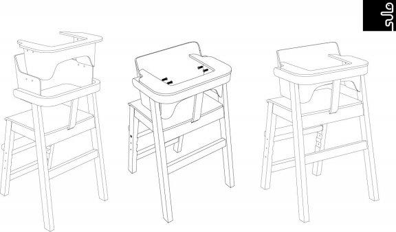 Sulo-tuoli, valkoinen/koivu, kuva 19