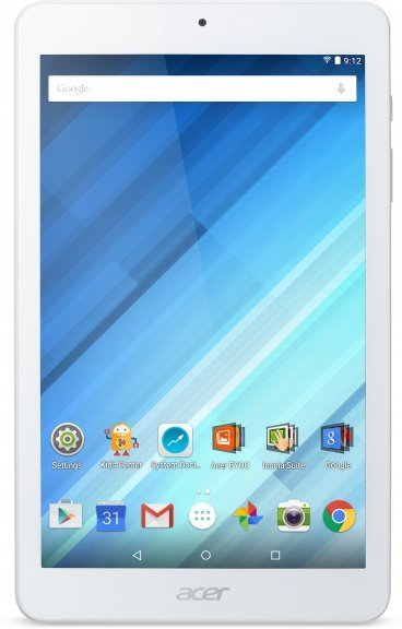 """Acer Iconia B1-850 8"""" 16 Gt Wi-Fi Android 5.1 -tablet, valkoinen"""