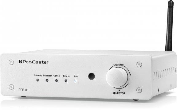 ProCaster PRE-01 -esivahvistin, valkoinen, kuva 2