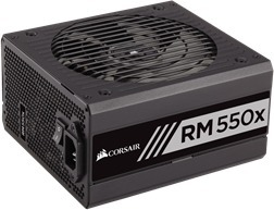 Corsair RM550x, 80 PLUS Gold -ATX-virtalähde, 550 W